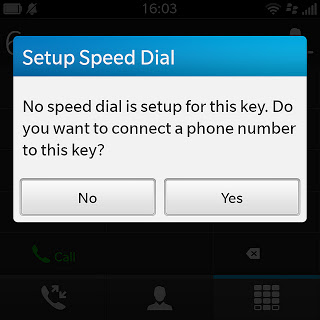 Assign speed dial keys (Speed ​​Dial) on BlackBerry Q10 1